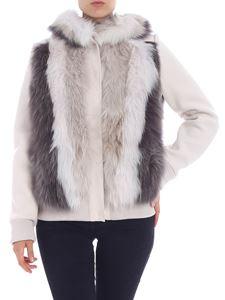 Lorena Antoniazzi - Ice-colored knitted jacket