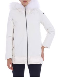 "RRD Roberto Ricci Designs - ""Winter Hybrid Zar"" white down jacket"