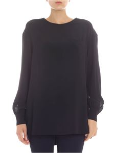 KI6? Who are you? - Blusa nera con tasca a toppa
