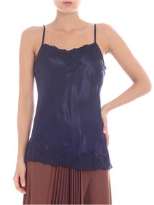 Ermanno by Ermanno Scervino - Blue top with lace inserts