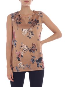 Kangra Cashmere - Brown floral printed top