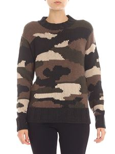 Parosh - Grey and green camouflage pullover