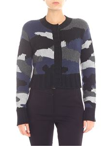 Parosh - Black and blue camouflage cardigan