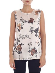 Kangra Cashmere - Floral printed ecru color top