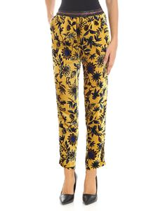 KI6? Who are you? - Ocher yellow floral trousers