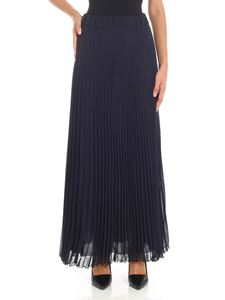 Parosh - Blue pleated skirt