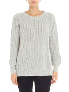 Kangra Cashmere - Cream color pullover with lamé inserts
