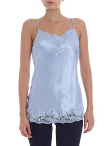 Ermanno by Ermanno Scervino - Light-blue top with lace inserts