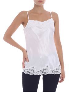 Ermanno by Ermanno Scervino - White top with lace inserts