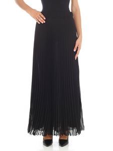 Parosh - Black pleated skirt
