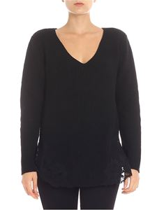Ermanno by Ermanno Scervino - Black pullover with lace