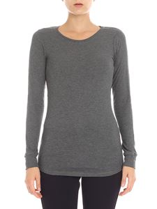 Majestic Filatures - Grey melange long sleeve t-shirt