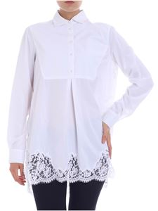 Ermanno by Ermanno Scervino - White blouse with lace details