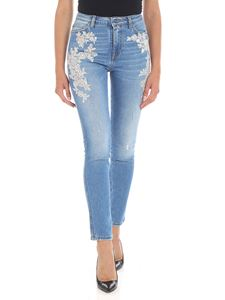 Ermanno by Ermanno Scervino - Light-blue jeans with lace
