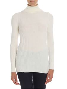 KI6? Who are you? - Ribbed cream color turtleneck