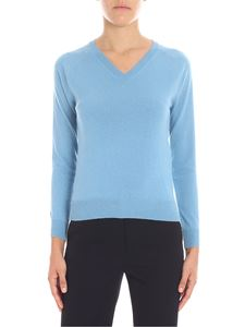 Stella McCartney - Light-blue V-neck pullover
