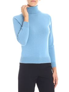 Stella McCartney - Light-blue virgin wool turtleneck