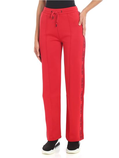 Kenzo - Red sweat pants with branded stripes