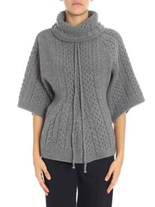 Stella McCartney - Grey knitted tricot effect pullover