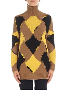 Ermanno Scervino - Yellow and brown turtleneck