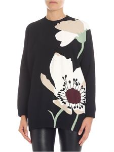 Valentino - Black overfit sweater with inlay