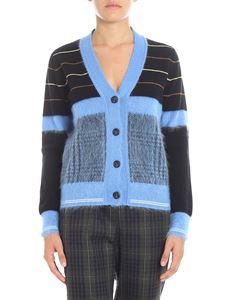 N° 21 - Black and light blue striped cardigan