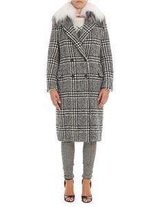 Ermanno Scervino - Black and white Prince of Wales coat