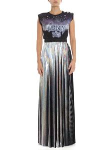 Balmain - Iridescent pleated holographic skirt