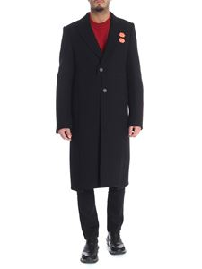 Off-White - Black coat with red rubber details