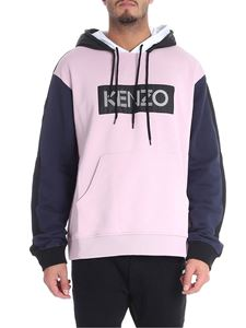 Kenzo - Lilac and blue colorblock sweatshirt