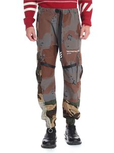 Off-White - Pantalone cargo Reconstructured camouflage