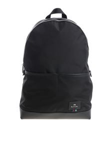 PS by Paul Smith - Zaino in tessuto nero con logo