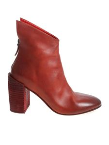 """Marsèll - """"Knife 90"""" red ankle boots"""