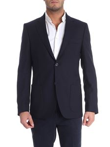 Fay - Blue virgin wool two buttons jacket
