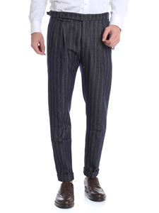 """berWich - """"Barbergin"""" blue and grey trousers"""