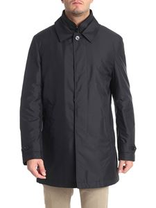 Fay - Black technical fabric coat