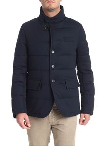 Fay - Blue quilted coat