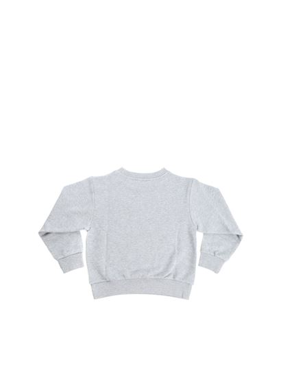 Gucci - Grey sweatshirt with embroidered bow
