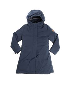 Save the duck - Breathable blue long down jacket