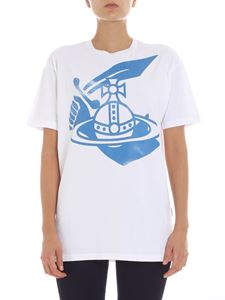 Vivienne Westwood Anglomania - White t-shirt with logo print