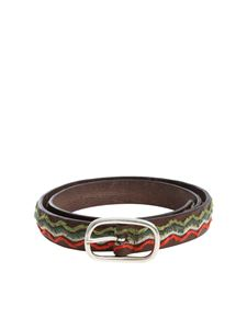 Andrea D'Amico - Brown belt with embroidery