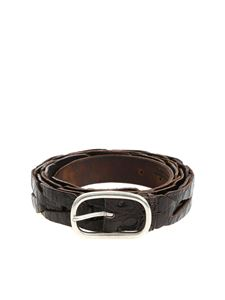 Andrea D'Amico - Coco effect brown leather belt