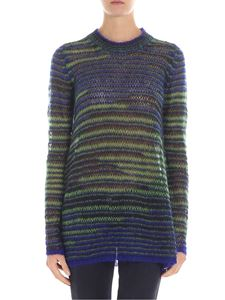 M Missoni - Blue black and green flared pullover