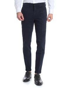 Fay - Dark blue trousers with logo