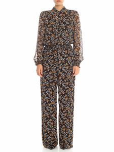 Michael Kors - Black and white floral printed jumpsuit