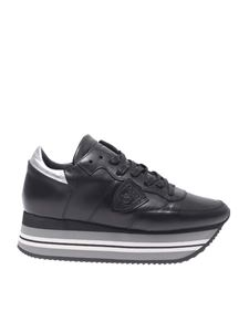 """Philippe Model - """"Eiffel"""" black and silver sneakers"""