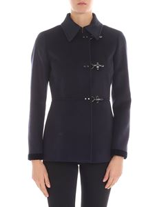 Fay - Blue virgin wool and cashmere coat
