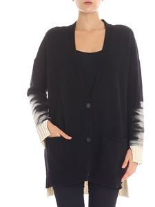 Pierantonio Gaspari - Black and white overfit cardigan