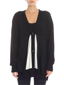 Pierantonio Gaspari - Black and white virgin wool cardigan