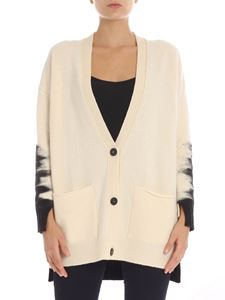 Pierantonio Gaspari - Ecru and black overfit cardigan